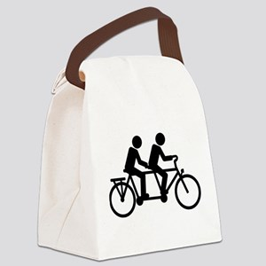 Tandem Bicycle bike Canvas Lunch Bag