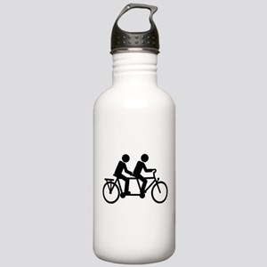 Tandem Bicycle bike Stainless Water Bottle 1.0L