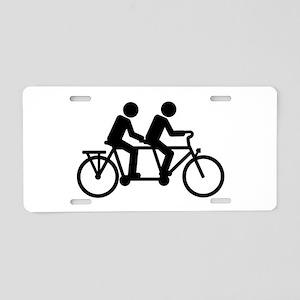 Tandem Bicycle bike Aluminum License Plate
