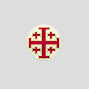 Cross Potent - Jerusalem - Red-2 Mini Button