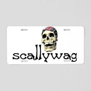 scallywag Aluminum License Plate