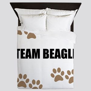 Team Beagle Queen Duvet