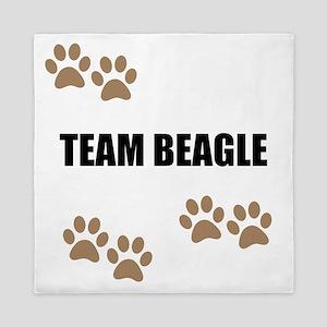 Team Beagle Queen Duvet