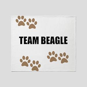 Team Beagle Throw Blanket