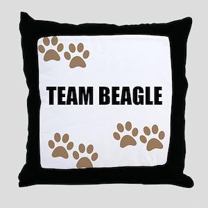 Team Beagle Throw Pillow