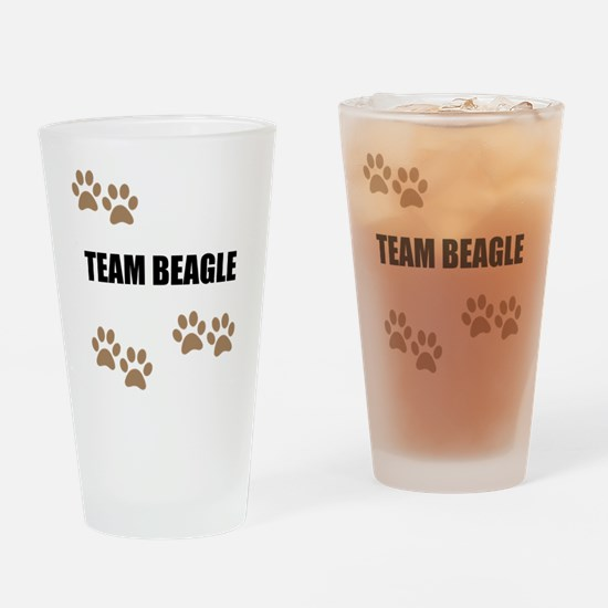 Team Beagle Drinking Glass