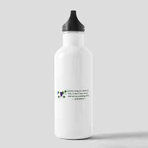 Aristophanes Wine Quote Water Bottle