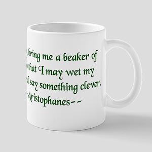 Aristophanes Wine Quote Mugs