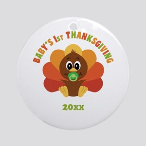 Personalize Babys First Thanksgiving Ornament (Rou