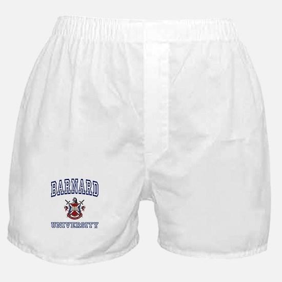 BARNARD University Boxer Shorts