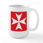 White Maltese Cross Mugs