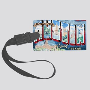 Austin Mural cp Large Luggage Tag