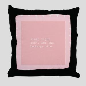 Bedbug Pink Throw Pillow