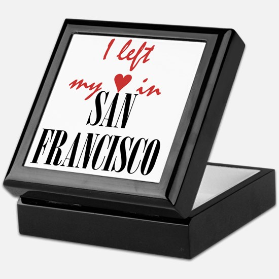 SF_10x10_apparel_LeftHeart_BlackRed Keepsake Box