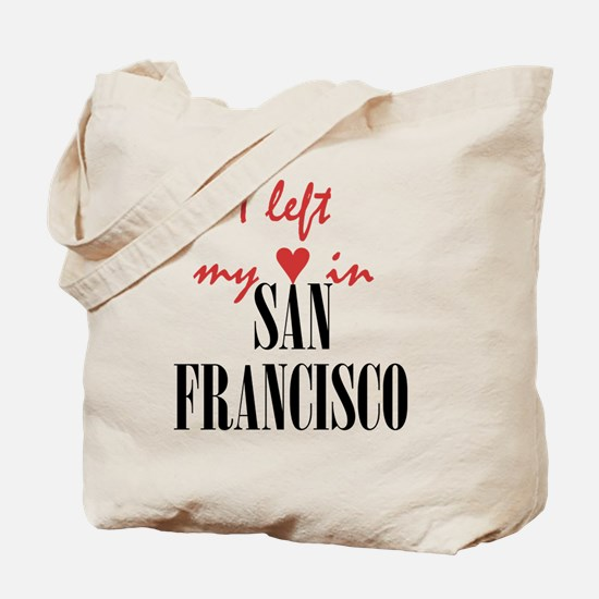 SF_10x10_apparel_LeftHeart_BlackRed Tote Bag