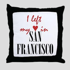 SF_10x10_apparel_LeftHeart_BlackRed Throw Pillow