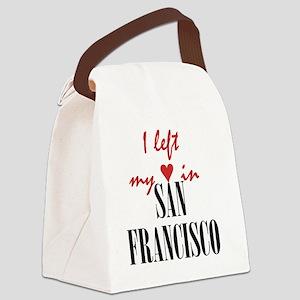 SF_10x10_apparel_LeftHeart_BlackR Canvas Lunch Bag