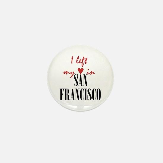 SF_10x10_apparel_LeftHeart_BlackRed Mini Button