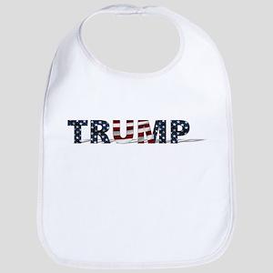 President Trump Logo USA American Baby Bib