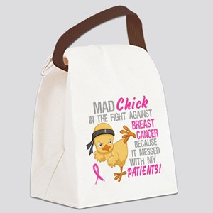 Mad Chick 3L Breast Cancer Canvas Lunch Bag