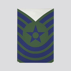 USAF-MSgt-Old-Green Rectangle Magnet