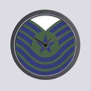 USAF-MSgt-Old-Green Wall Clock