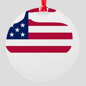curlingWen Round Ornament