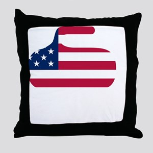 curlingWen Throw Pillow