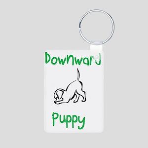 downward puppy Aluminum Photo Keychain