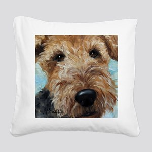 Best Friend Square Canvas Pillow