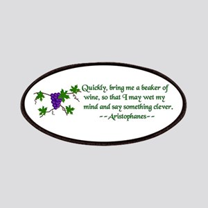 Aristophanes Wine Quote Patches