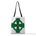 Celtic Cross Polyester Tote Bag