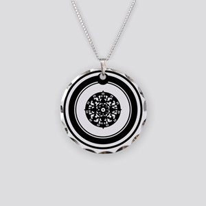 OuroborosSigil-SolidBlack Necklace Circle Charm