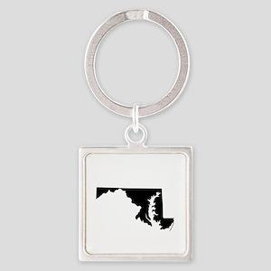 Maryland Square Keychain