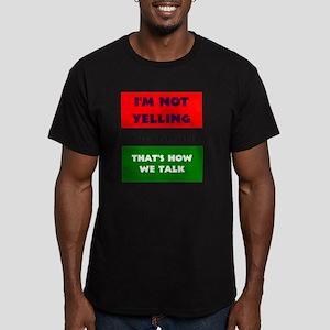 ITALIAN TALK Men's Fitted T-Shirt (dark)