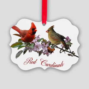 12 X T cardinals 200 dpi Picture Ornament