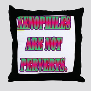 XENOPHILES(white) Throw Pillow