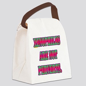 XENOPHILES(white) Canvas Lunch Bag