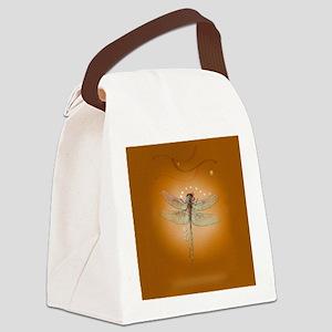 libelluleailesfinescarre Canvas Lunch Bag