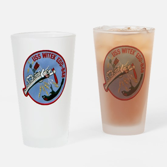 witek patch transparent Drinking Glass