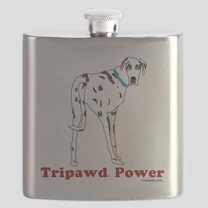 Tripawd Power Three Legged Great Dane Dark W Flask