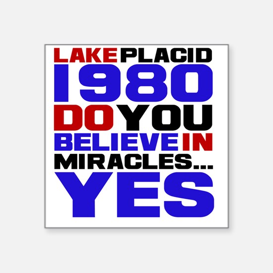 """miracle on ice Square Sticker 3"""" x 3"""""""