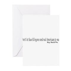 Faux Klingons Greeting Cards (Pk of 10)