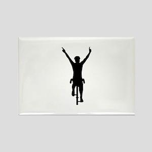 Cyclist winner Rectangle Magnet