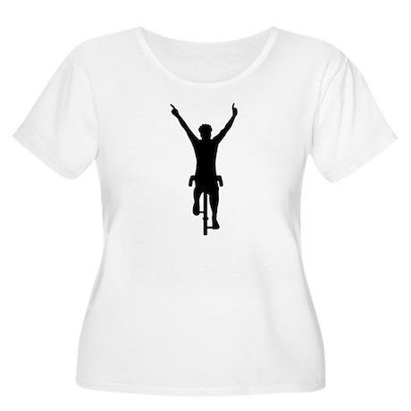 Cyclist winner Women's Plus Size Scoop Neck T-Shir