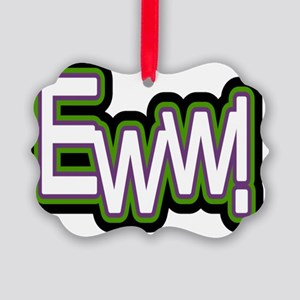 lol EWW white L Picture Ornament