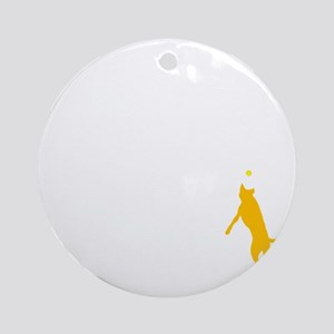 Tri Harder Flying Three Legged Dog  Round Ornament