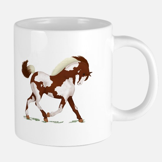 Chestnut Overo Horse Mugs