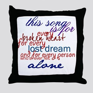 alblspeech Throw Pillow
