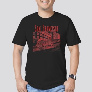 CableCar_10x10_apparel Men's Fitted T-Shirt (dark)